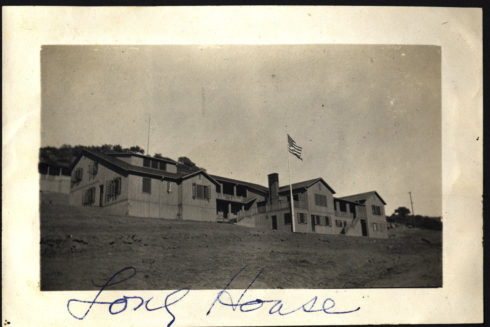 santa barbara school at the foot of cate mesa was built in 1914. the dorm names high house, school house, and long house at the foot of cate mesa became the names of the new buildings (1928) a the top of cate mesa